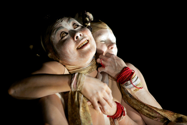 Butoh performance by BadUnklSista. Photo by Mike Estee